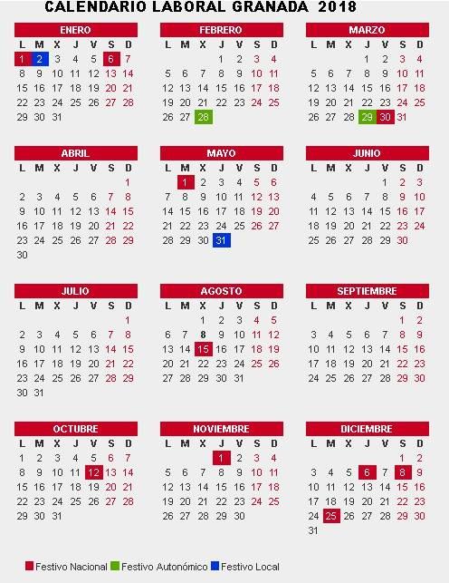 calendario laboral granada 2018