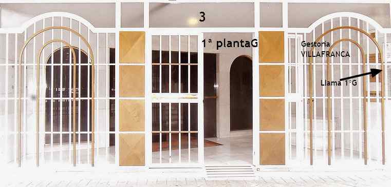 portal bloque oficina Gestoria Villafranca en Granada